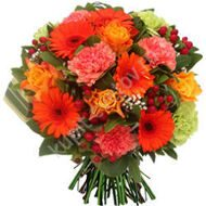 Bouquet of gerberas and carnations