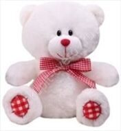 White mini bear 20 cm