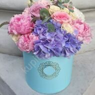 Hat Box with hydrangea