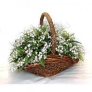 Basket of lilies of the valley