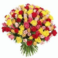 Bouquet of 101 colorful roses Kenya