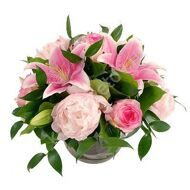 Bouquet of peonies and lilies