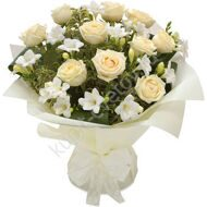 Fragrant bouquet with freesias