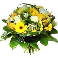 Yellow bouquet of chrysanthemums