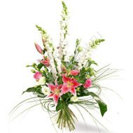 Bouquet of lilies and anthuriums