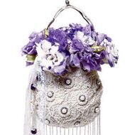 W handbag-bouquet of lilac