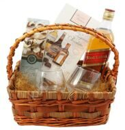 Basket with Whiskey