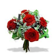 Bouquet of roses with decoration