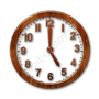 Glossy-waxed-wood-icon-business-clock3