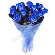 15 blue roses