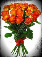 25 red-yellow roses