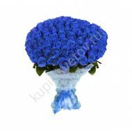 91 blue roses in sisal