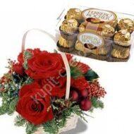 Christmas Basket + Ferrero Rocher