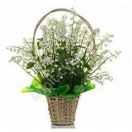 Basket with lilies of the valley