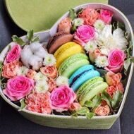 Heart with macarons