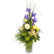 Vertical bouquet with irises