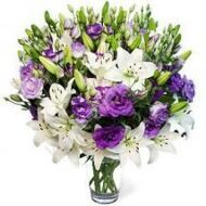 Bouquet  of lilies and eustoma