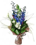 High bouquet of delphinium