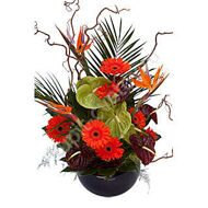 Arrangement with gerberas and anthurium