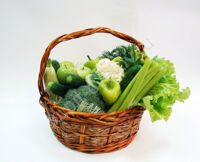 Green basket of vegetables