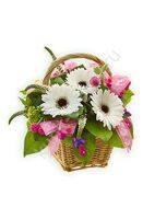 Mini basket of gerberas