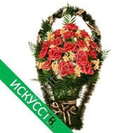 Funeral basket of roses
