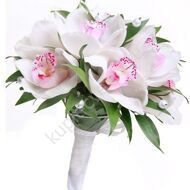 Classic bridal bouquet of white orchids