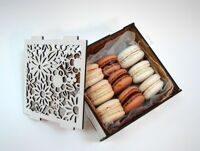 Box of chocolate-vanilla macarons XS
