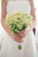 Wedding bridal bouquet of daisies matrikary