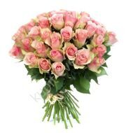 Bouquet of 51 pink roses import