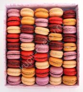 Big set of macarons