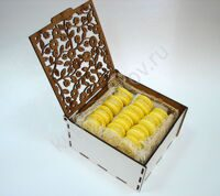 Box of lemon macarons S