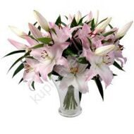 Delicate bouquet of lilies