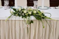 Wedding arrangement with roses