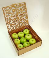 Box of green apples