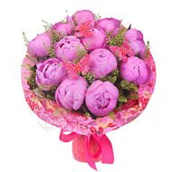 Bouquet of fuchsia peonies