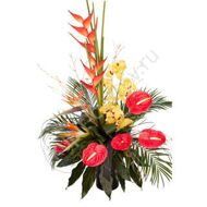 Exotic bouquet with Heliconia