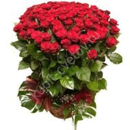 Basket of 101 long roses