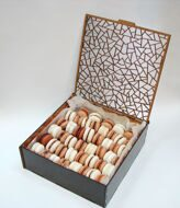 Large chess box of macarons