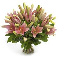 19 pink lilies