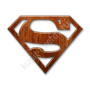 Glossy-waxed-wood-icon-business-logo-superman-sc37