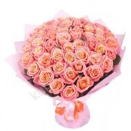 Bouquet of 51 pink roses
