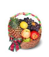 Basket with a pineapple