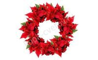 Wreath of poinsettia