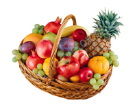 Basket of ripe fruits