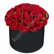 Large box of red roses