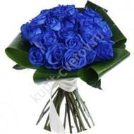 Bouquet of 21 blue roses