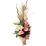 Decorative hat with gladiolus