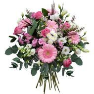 Pink bouquet with lisianthus