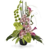 Vertical composition with orchids